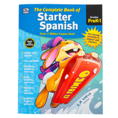Thinking Kids, The Complete Book of Starter Spanish Workbook, 416 Pages, Grades PreK-1
