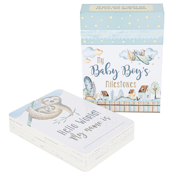 Christian Art Gifts, My Baby Boys Milestone Cards, 6 1/2 x 4 1/2 inches, 24 Cards