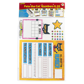 Edupress, Pete the Cat Numbers 0-20 Bulletin Board Set, 63 Pieces