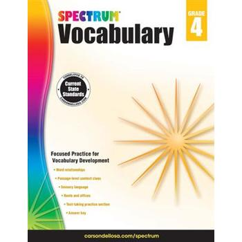 Carson-Dellosa, Spectrum Vocabulary Workbook Grade 4, Paperback, 160 Pages, Ages 9-10