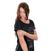 NOTW, Then I Said Amen, Women's Short Sleeve T-Shirt, Black Mineral Washed, X-Small