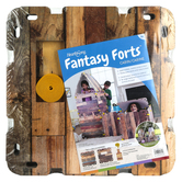 HearthSong, Fantasy Forts Cabin Kit, 22 inches, 16 Panels