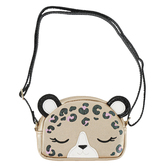 Stephen Joseph, Leopard Fashion Purse, Polyurethane & Polyester, Tan, 6 x 4 1/4 inches