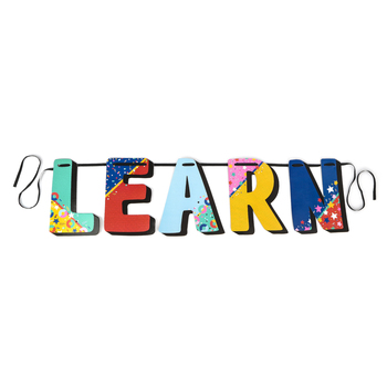 Colorfetti Collection, LEARN Word Banner, Multi-Colored, 9.5 x 11.5 Inch Letters