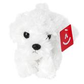 Aurora, Mini Flopsies, Snowball the Bichon Frise Dog Stuffed Animal, 8 inches