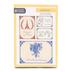 ThreeRoses, Vintage Linen Design Birthday Cards, 12 count