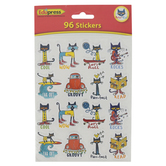 Edupress, Pete the Cat Stickers, 1 Inch, Multi-colored, Pack of 96