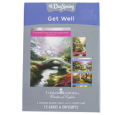 DaySpring, Thomas Kinkade Garden Get Well Boxed Cards, 12 Cards with Envelopes