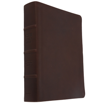 CSB Holman Study Bible, Genuine Leather, Brown