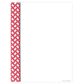 Renewing Minds, Lattice Letterhead, 8.5 x 11 Inches, Red and White, 50 Sheets