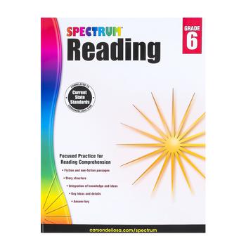 Carson-Dellosa, Spectrum Reading Workbook, Paperback, 174 Pages, Grade 6