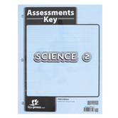 BJU Press, Science 2 Assessments Answer Key, 5th Edition, Grade 2