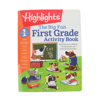 Highlights, The Big Fun First Grade Activity Book, Paperback, 256 Pages, Grade 1