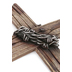 Rustic Wood-Look with Barbed Wire Wall Cross, Resin, 20 x 12 inches