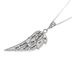 Spirit & Truth, Psalm 91:4, He Shall Cover Thee Feather, Women's Necklace, Stainless Steel, 18 Inches