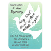 Universal Designs, A New Beginning Confirmation Pocket Card, 2 3/8 x 3 1/2 inches