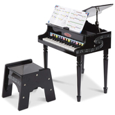Melissa & Doug, Learn to Play Classic Grand Piano, Black, 26 x 20 x 21 inches