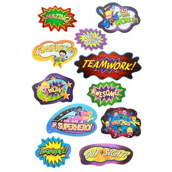 Superheroes Collection, Motivational Mini Bulletin Board Set, 11 Pieces