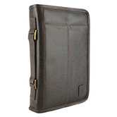 Zondervan, Aviator Bible Cover, Leather-like, Brown, Multiple Sizes Available