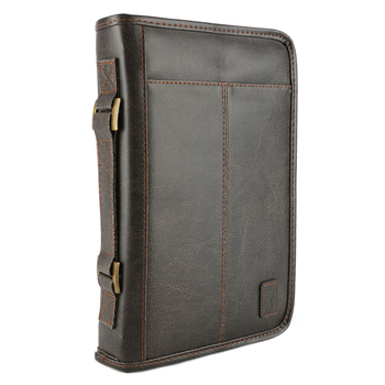 Zondervan, Aviator Bible Cover, Leather-like, Brown, X-Large