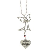 Abbey and CA Gift, Open Heart Car Charm for Sister, Metal, 7 1/2 inches