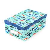 The Paper Studio, Photo Storage Box, Sharks, 7 1/2 x 11 x 4 1/4 Inches