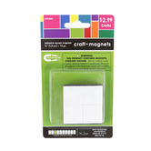 Tree House Studio, Adhesive Magnetic Squares, Black, 3/4 inch, 12 Count