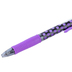 Pilot, G2 Retractable Gel Roller Pen with Rubber Grip, Fine Point, Polka Dots Purple, 1 Each