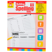 Evan-Moor, Building Spelling Skills Grade 6 Teacher's Edition, Reproducible, Paperback, 160 Pages