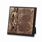 Lighthouse Christian Products, Armor of God Plaque, Cast Stone and MDF, 5 7/8 x 5 7/8 inches