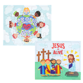Easter Cardboard Puzzle, 10 x 8 1/2 inches, 20 Pieces