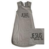 New Ewe, Jesus Loves Me Wearable Blanket, Baby Sleeveless, Titanium, Newborn