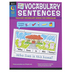 Creative Teaching Press, Cut and Paste Vocabulary Sentences Workbook, Paperback, 119 Pages, Grades K-1