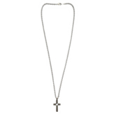 Dicksons, On Your Confirmation Men's Cross Necklace, Stainless Steel, 24 inches