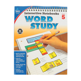 Carson-Dellosa, Interactive Notebooks Word Study Resource Book, Reproducible Paperback, Grade 5