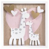 Giraffes & Hearts Wall Decor, MDF, 10 x 10 x 1 1/2 Inches
