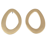 Mercy Adorned, Proverbs 3:27 Circle Hoop Dangle Earrings, Zinc Alloy, Brushed Gold
