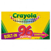 Crayola, Crayons with Built-In Sharpener, 96 Count