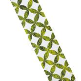 Schoolgirl Style, Woodland Whimsy Moss Lattice Straight Borders Trim, 36 Feet, Green and White