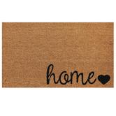 Home Heart Doormat, Coir, Brown & Black, 18 x 30 inches