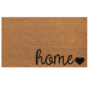 Home Heart Doormat, Coir, Brown & Black, 18 x 30 inches