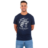 Kerusso, Matthew 4:19 Fisher Of Men, Men's Short Sleeve T-shirt, Navy, Large