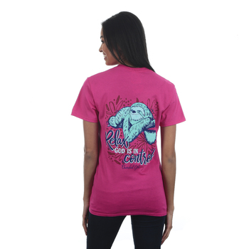 Cherished Girl, Proverbs 3:5 Sloth, Women's Short Sleeved T-Shirt, Heliconia, S-3XL