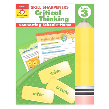 Evan-Moor, Skill Sharpeners Critical Thinking Grade 3 Activity Book, Paperback, 144 Pages, Grade 3