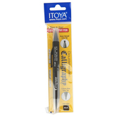 Itoya, Doubleheader Calligraphy Pen, Fine and Broad Point, Black, 1 Piece