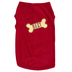Paws & Praise, Best Dog Biscuit, Dog T-Shirt, Red, Large