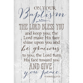 Dexsa, Lord Bless You and Keep You Baptism Plaque, MDF Wood, 6 x 9 inches