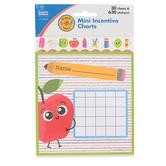 Carson-Dellosa, School Tools Mini Incentive Charts with Stickers, 4.75 x 5 Inches, 660 Pieces