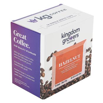 Kingdom Growers Coffee, Hazelnut Single Serve Cups, 16 K-Cups