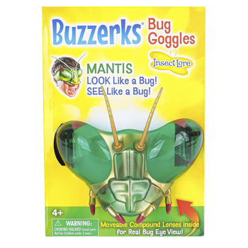 Insect Lore, Buzzerks® Praying Mantis Goggles, Green, Ages 4 Years and Older, 1 Pair